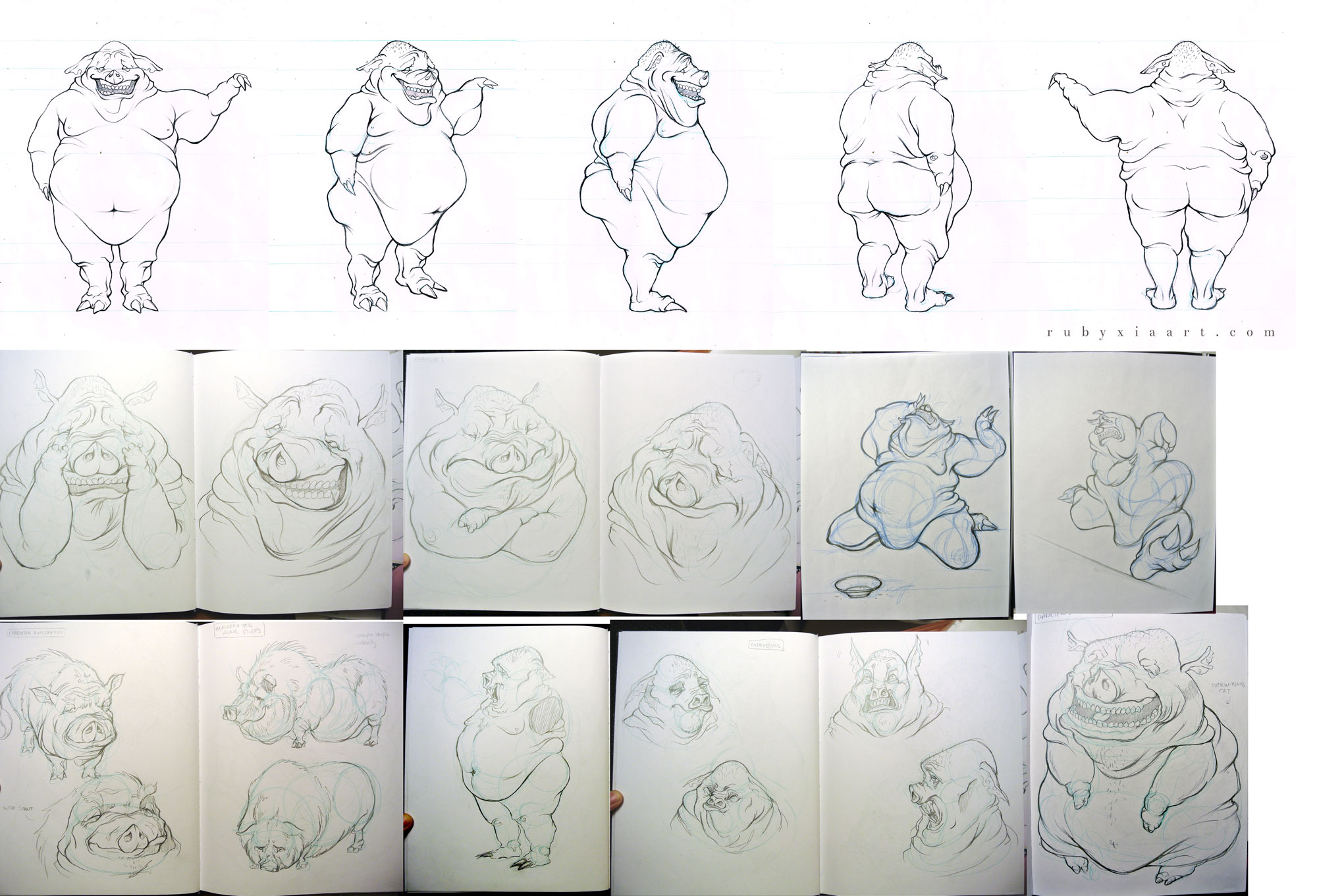 Character Design Portfolio Examples : Accepted to sheridan animation ruby xia