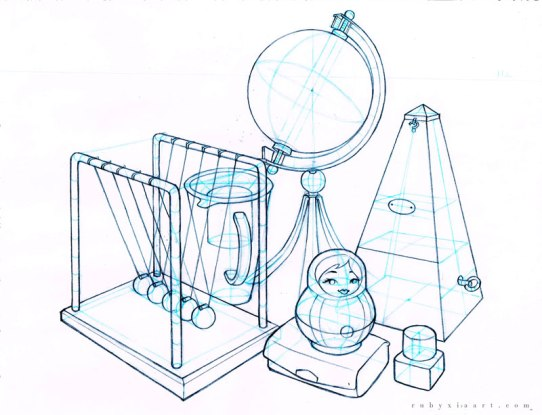 Sheridan_Animation_Portfolio_Ruby_Xia_Object_Drawing_1
